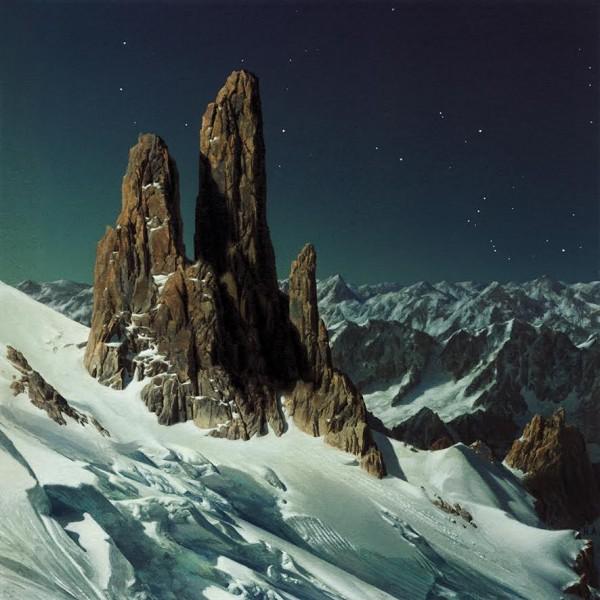 Heiner Altmeppen,Felsnadeln im Mondlicht II, 2017, Acryl auf Papier auf Sperrholz, 15 x15 cm