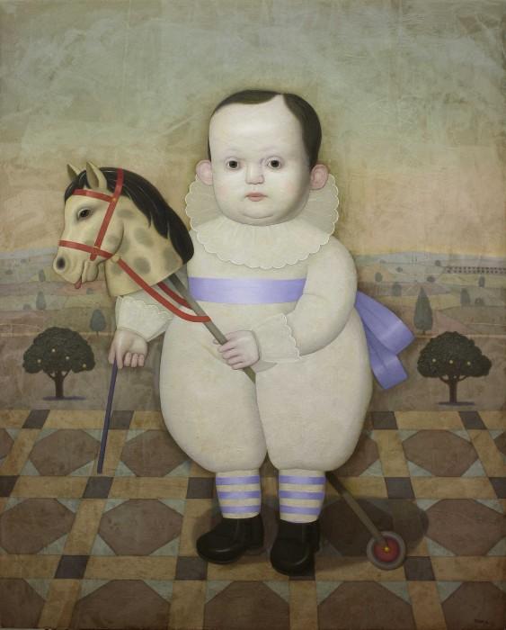 A caballo (2014) 100x81 Oil on wood