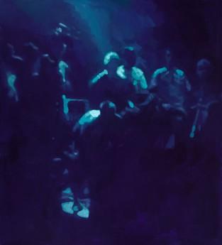 Adam Bota, Club I, 2011, 200x170cm,oil on canvas