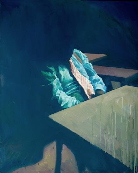 Adam Bota, Rast, 2009, Öl a.Lw., 170 x 135cm, Lukas Feichtner Galerie Wien