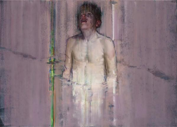 attila szucs, encompassed, oil on canvas, 140x100cm. 2013-16