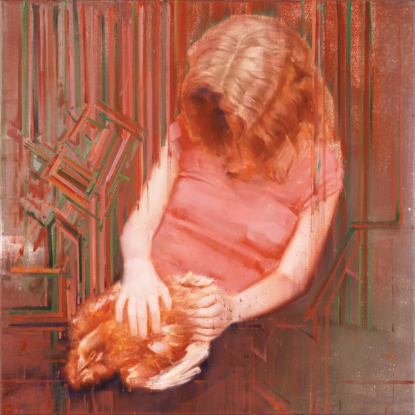 attila szucs, healer, oil on canvas, 80x80cm. 2017