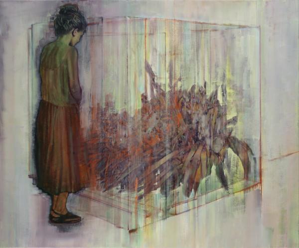 attila szucs, hypercube, oil on canvas, 145,5x175,5cm. 2014-16