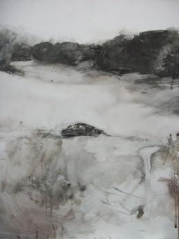 alejandro rodrìguez gonzàlez,The Arrival,2014,drawing, 40x35cm