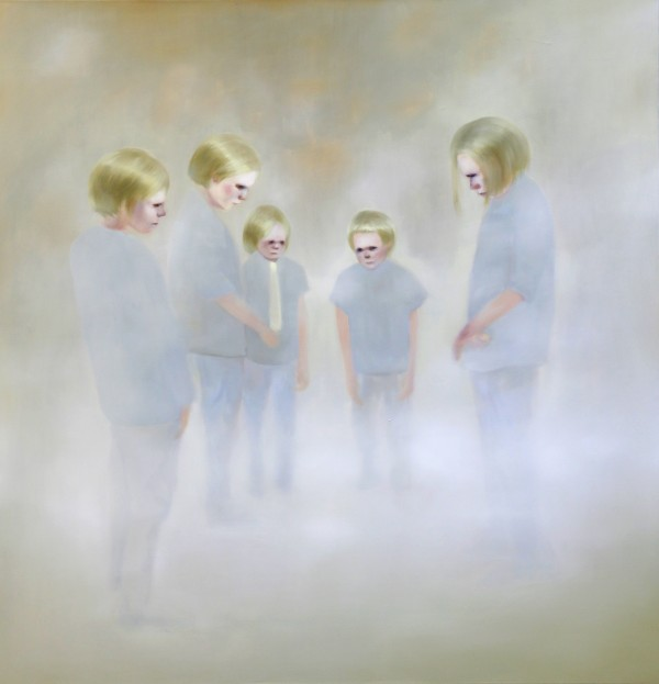 Simone Haack_Trying to disappear_160x155cm_oil on canvas